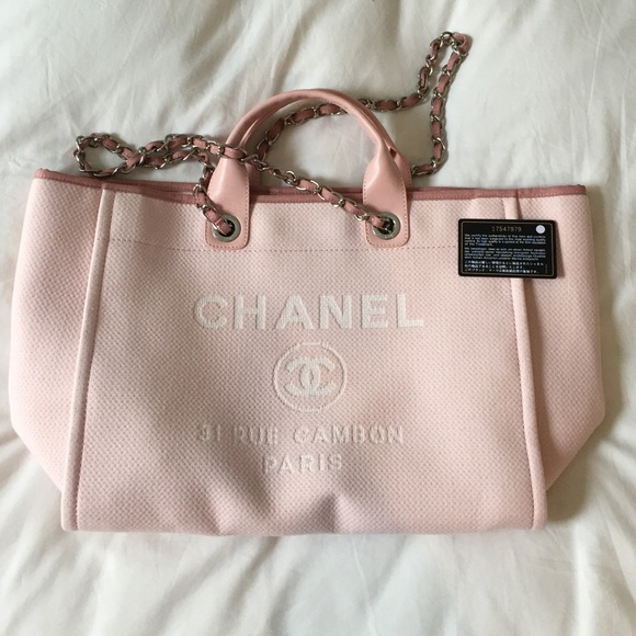 582c68dc4 CHANEL Bags | Deauville Tote In Pink | Poshmark