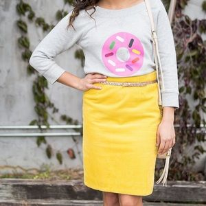 Anthropologie Dresses & Skirts - ANTHRO yellow cord skirt