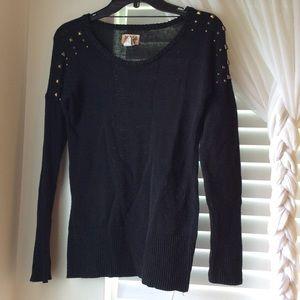 Mudd Black Bronze-studded Sweater