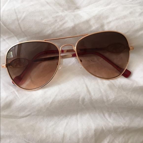 ee33f105dd Jessica Simpson Accessories - Rose Gold Jessica Simpson Aviator Sunglasses