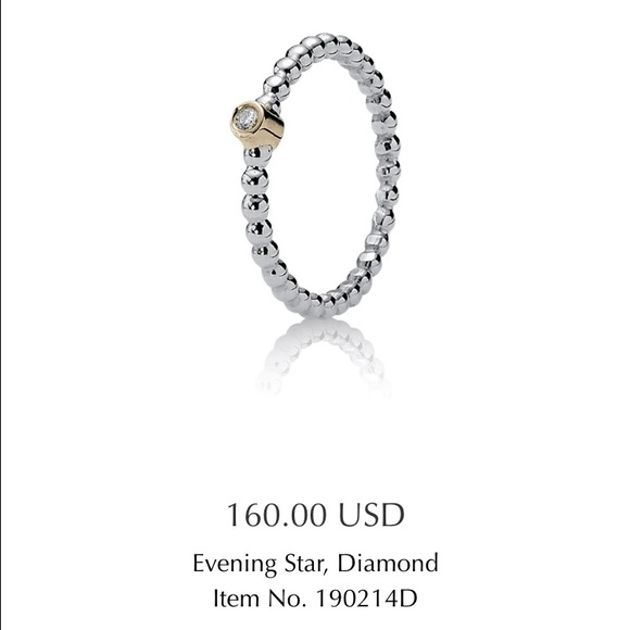 08340fbac Pandora Jewelry | Evening Star Diamond Stackable Ring | Poshmark