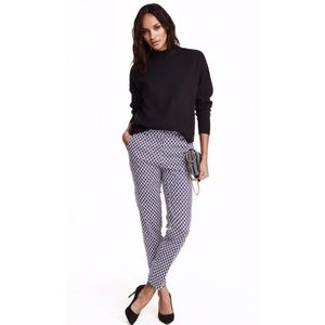 H&M Pants - H&M Navy Printed Slim Slacks
