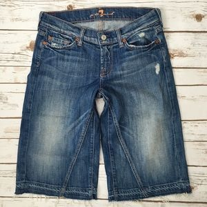 7 for all Mankind Pants - 7 For All Mankind Jeans Crop Dojo Bermuda Goucho