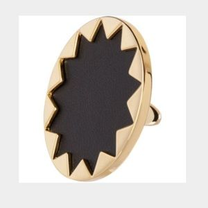House of Harlow Black Sunburst Ring