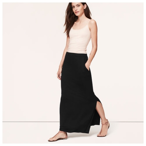 67% off LOFT Dresses & Skirts - LOFT black maxi skirt with pockets ...