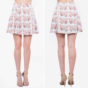 NWT Anthropologie butterfly print mini skirt