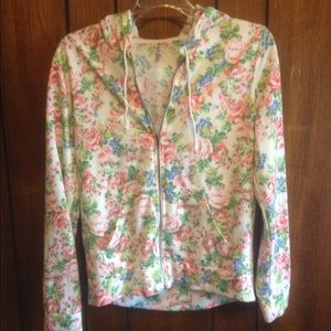 White floral lightweight jacket