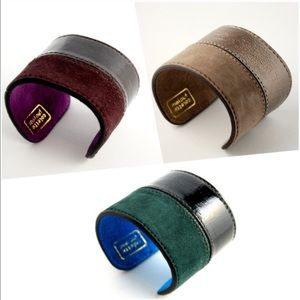 Colette Malouf Patent leather & Suede Cuff