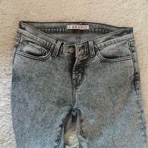 NEVER WORN Super cool acid wash jbrand jeans