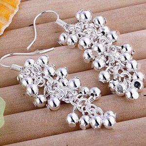 Sterling Silver Grape Drop Earrings