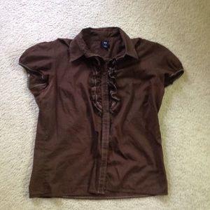 GAP button up blouse.