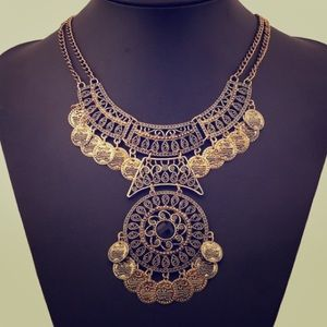 Gold tribal inspired necklace
