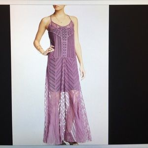 Free people meadows of lace maxi slip $198