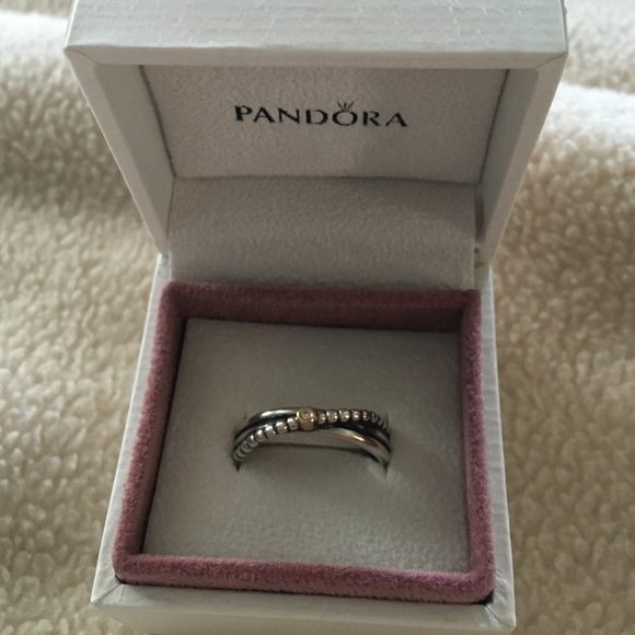 8faa9c8b2 Pandora Rising Star two tone ring. M_57476003c6c795b5200036ae