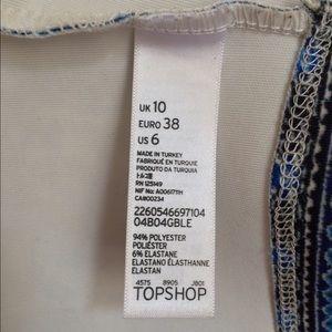 Topshop Tops - Topshop Blue Paisley Pattern Crop Top