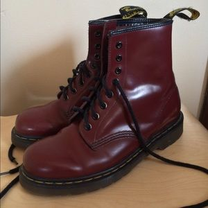Dr. Martens 1460 - Cherry Red (Maroon) Boots