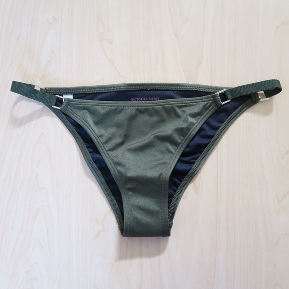 Victoria's Secret Swim - Green Side-Strap Cheeky Bikini Bottom