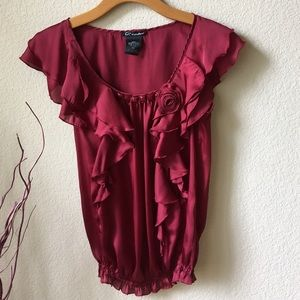 Charlotte Russe Ruffles and Rosette Top