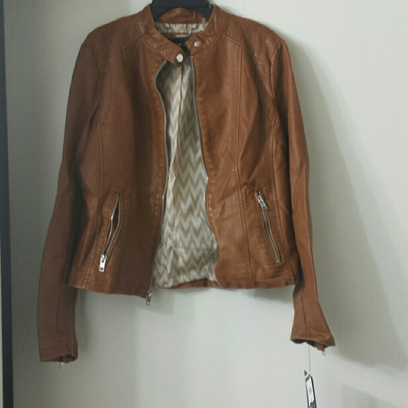 65% off black rivet Jackets & Blazers - Brown leather jacket from ...