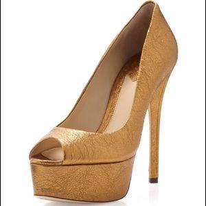 Brian Atwood Gold Bambola Heels