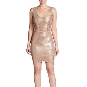 BCBG Gisela Rose Gold dress
