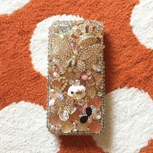 Rhinestone princess iPhone 5/5s phone case