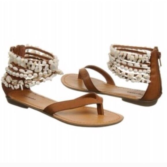 3dab3dde0f5c Zigi Milan Flat Sandals w  Beads