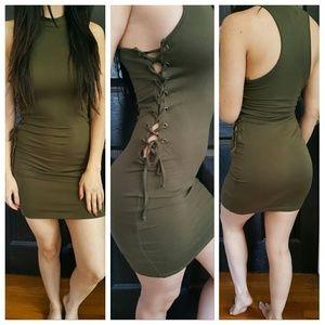 Classic Dresses & Skirts - 🆕Sexy Olive Green Dress sz S