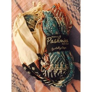Ashley Cooper Accessories - •pashmina• teal shawl • {ashley cooper} • scarf •