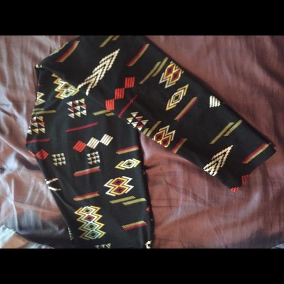 5f75b83ff3de36 LuLaRoe Pants | Aztec Print Leggings | Poshmark