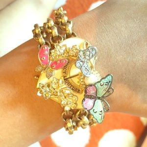 Juicy Couture butterfly bracelet