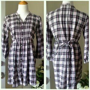 PINK Dresses & Skirts - Victoria's secret button down plaid babydoll tunic