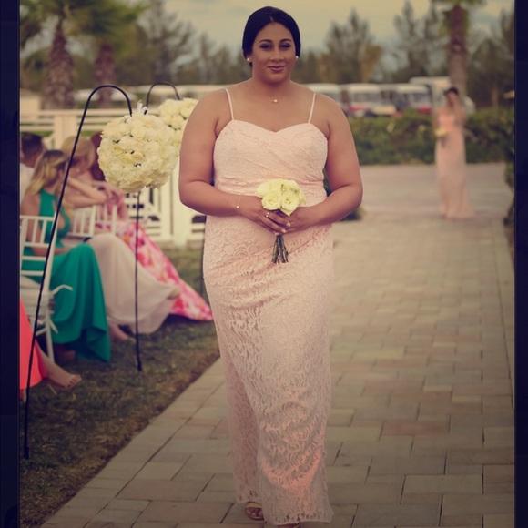 Plus Size David\'s Bridal Bridesmaid Dress In Petal