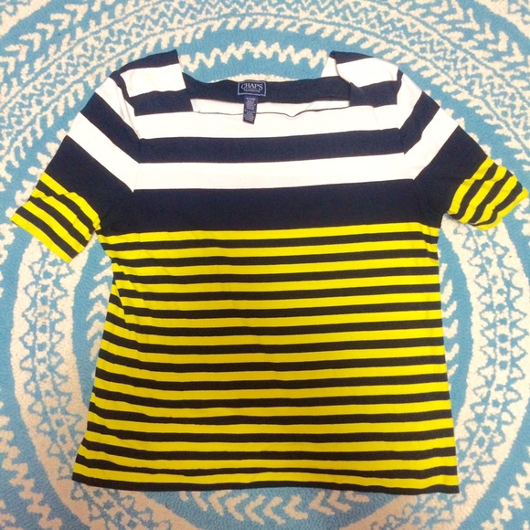 90 Off Chaps Tops Chaps Striped Boatneck Shirt From