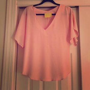 Aaron Ashe Tops - Pink silk top