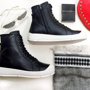 Atelje Minimalist Leather High Tops