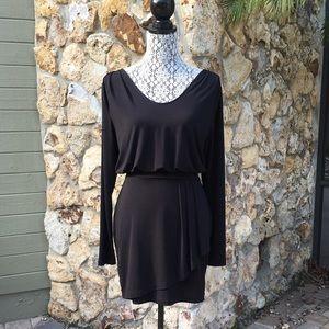 BCBGeneration Dresses & Skirts - BCBG Draped Black Dress