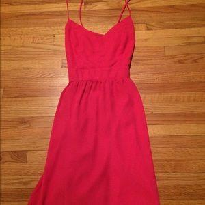 Dresses & Skirts - Pink chiffon mini dress with open back