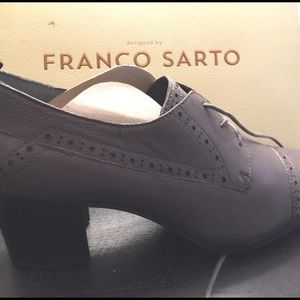NIB Franco Sarto gray heeled loafers SZ 10