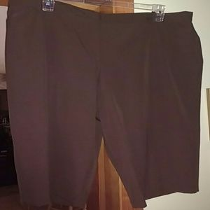 Worthington Pants - Classic Brown Capris sz 20W NWT