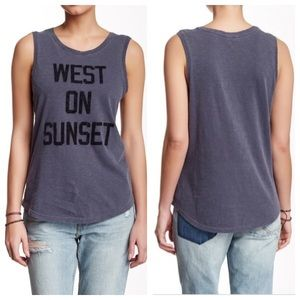 Lucky Brand Tops - West on sunset graphic tank