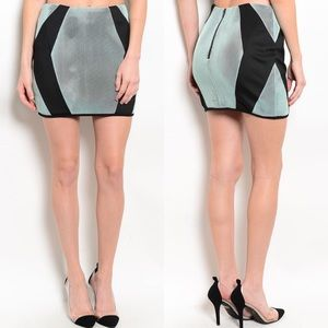 Mustard Seed Dresses & Skirts - 🎉CLEARANCE🎉Mint Black Mesh Illusions Mini Skirt