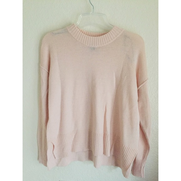 36% off H&M Sweaters - Light Pink Knit Sweater from Jenney's ...