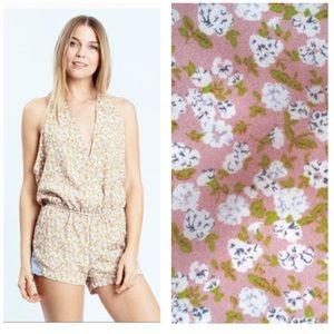 Karen Zambos Pants - Karen Zambos floral jumper in Peach