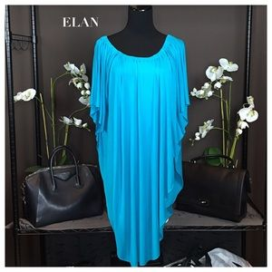 NWT ELAN Teal Aqua Blue Butterfly Cover-Up