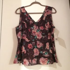 Axcess Tops - Floral structured top