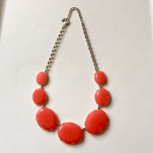 Statement Coral Pink Chunky Beaded Necklace