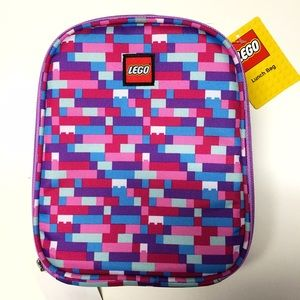 LEGO Handbags - LEGO Bricks Pink Blue Purple Insulated Lunch Tote