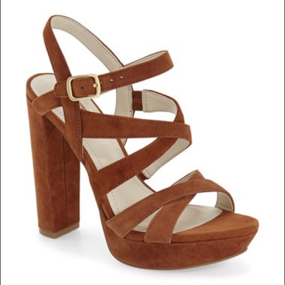 BCBG Morgan chunky heel sandals