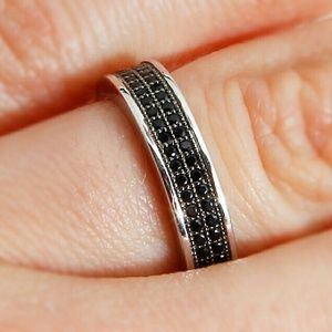 ba0b3f97a Sterling Silver Black Micro Pave Ring SACR00052. Boutique